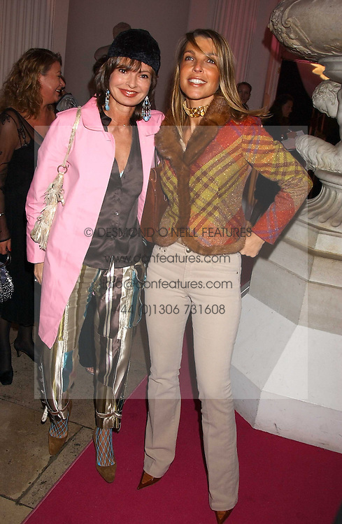 Left to right, COUNTESS MAYA VON SCHONBURG and COUNTESS BARBARA BISMARCK at a 'A Night in Cartier Paradise' to celebrate a new collection of jewellery by Cartier, held at The orangery, Kensington Palace, London W8 on 25th October 2005.<br />