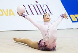 Monija Cebasek of Slovenia competes during 27th MTM - International tournament in rhythmic gymnastics Ljubljana, on April 19, 2014 in Arena Krim, Ljubljana, Slovenia. Photo by Vid Ponikvar / Sportida