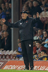 Leyton Orient's manager Russell Slade reacts  - Photo mandatory by-line: Mitchell Gunn/JMP - Tel: Mobile: 07966 386802 23/09/2013 - SPORT - FOOTBALL -  Griffin Park - London - Brentford v Leyton Orient - Sky Bet League One