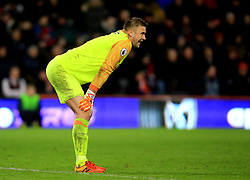 Bournemouth goalkeeper Artur Boruc during the Premier League match at The Vitality Stadium, Bournemouth.