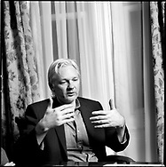 Julian Assange, former editor-in-chief and founder of WikiLeaks, photographed inside Ecuador?Äôs embassy in London. He has been granted diplomatic asylum in Ecuador but if he leaves the London embassy he will be arrested by the British police who have vowed to deport him to Sweden where he is wanted in connection with an alleged sex crime.