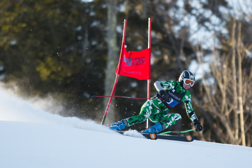 Lizzie Kistler of Dartmouth College, skis during the first run of the women's giant slalom at the University of New Hampshire Carnival at Attitash Mountain on January 24, 2014 in Bartlett, NH. (Dustin Satloff/EISA)