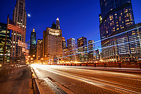 Chicago - The Moon & The Magnificent Mile (Michigan Avenue Bridge)