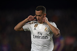 February 6, 2019 - Barcelona, Barcelona, Spain - Lucas Vazquez of Real Madrid celebrates after scoring his sides first goal during the Spanish Cup (King's cup), first leg semi-final match between FC Barcelona and  Real Madrid at Camp Nou stadium on February 6, 2019 in Barcelona, Spain. (Credit Image: © Jose Breton/NurPhoto via ZUMA Press)
