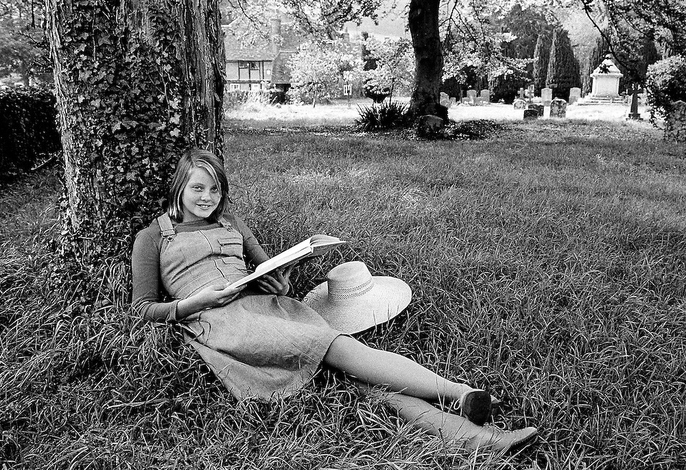 American actress Jodie Foster seen on the set of the film 'Candleshoe', UK.1976<br /> Photo by Terry Fincher