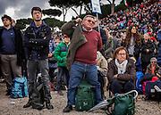 Family Day al Circo Massimo contro il ddl Cirinna' che prevede il riconoscimento delle unioni civili anche per le coppie omosessuali. Roma 30 gennaio 2016. Chrstian Mantuano / OneShot<br /> <br /> Thousands of demonstrators take part in the Family Day rally at the Circo Massimo in central Rome, on January 30, 2016. Christian Mantuano / OneShot