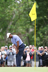 May 30, 2019 - Dublin, OH, U.S. - DUBLIN, OH - MAY 30: Tiger Woods chips onto the green during the first round of The Memorial Tournament on May 30th 2019  at Muirfield Village Golf Club in Dublin, OH. (Photo by Ian Johnson/Icon Sportswire) (Credit Image: © Ian Johnson/Icon SMI via ZUMA Press)