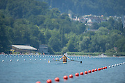 Lucerne, SWITZERLAND. AUS W1X. [1] Kim CROW. 2015 FISA World Cup III, Lake Rotsee,  11:30:33  Friday  10/07/2015   [Mandatory Credit. Peter SPURRIER/Intersport Images. .   Empacher.