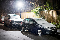 © Licensed to London News Pictures. 16/01/2021. London, UK. Heavy Snow at Hampstead, north London, as large parts of the UK are expected to be blanketed in snow and freezing conditions. Photo credit: Ben Cawthra/LNP