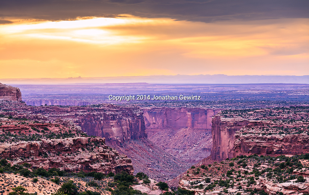 Canyon landscape in Canyonlands National Park, Utah.<br /> <br /> WATERMARKS WILL NOT APPEAR ON PRINTS OR LICENSED IMAGES.