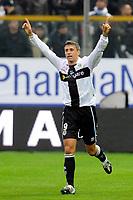 Fotball<br /> Italia<br /> Foto: Insidefoto/Digitalsport<br /> NORWAY ONLY<br /> <br /> Hernan CRESPO celebrates scoring<br /> <br /> 21.11.2010<br /> Parma v Lazio