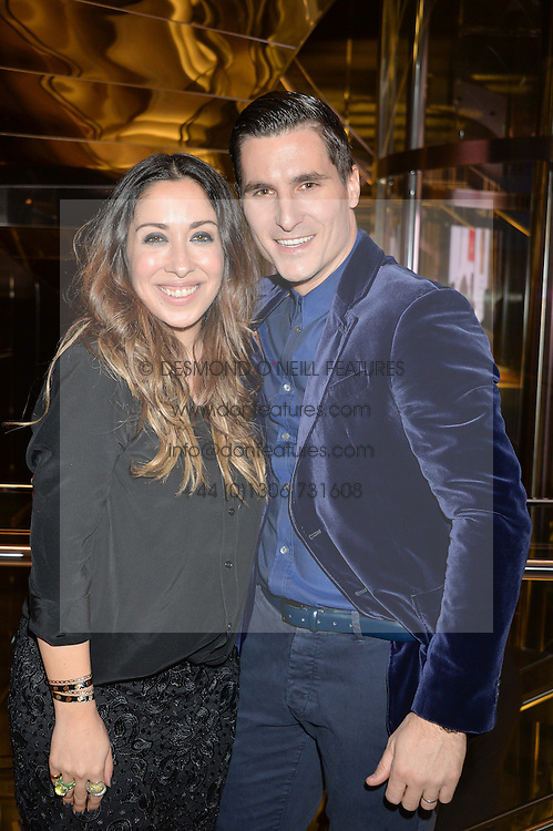 SARAH CURRAN Managing Director Very Exclusive and GARETH JONES Shop Direct Deputy CEO at the Veryexclusive.co.uk Launch Party held at Watches of Switzerland, 155 Regents Street, London on 20th February 2015.