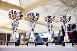 PORTOROZ, SLOVENIA - SEPTEMBER 16:  Trophies for Zdruzenje manager VIP tournament during the WTA 250 Zavarovalnica Sava Portoroz at SRC Marina, on September 16, 2021 in Portoroz / Portorose, Slovenia. Photo by Vid Ponikvar / Sportida