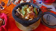 Stone pot, seafood, El Herradero restaurant, San Jose, Baja, Mexico