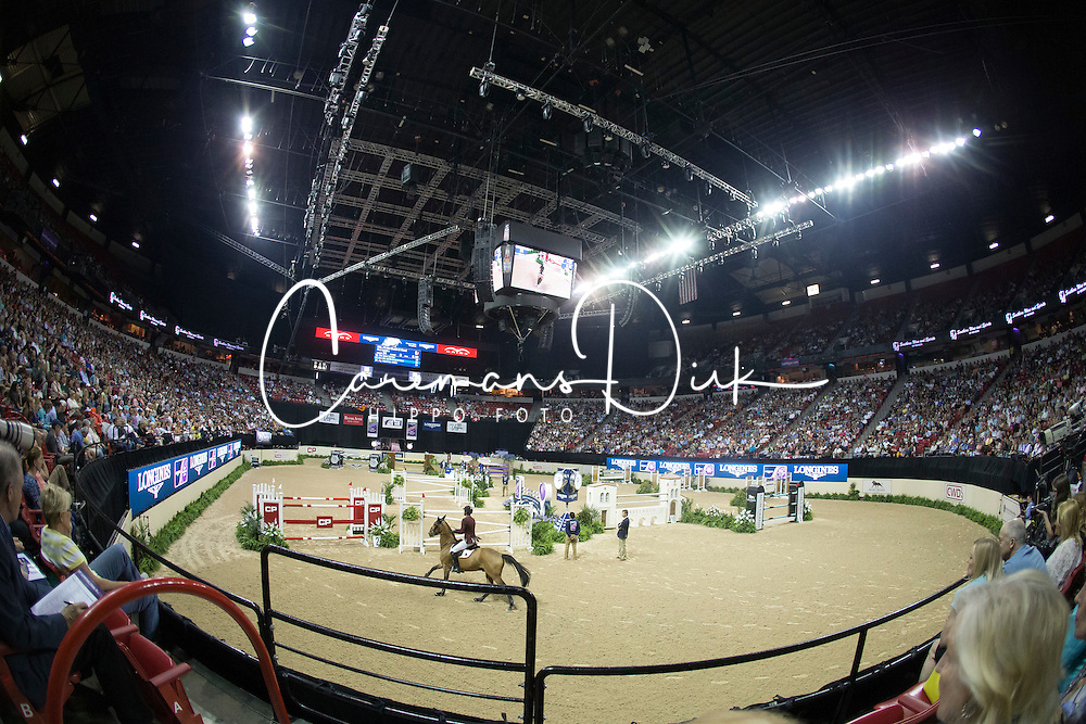 Sheikh Ali Al Thani Bin Khalid, (QAT), First Devision <br />  Longines FEI World Cup™ Jumping Final Las Vegas 2015<br />  © Hippo Foto - Dirk Caremans<br /> Final III round 2 - 19/04/15