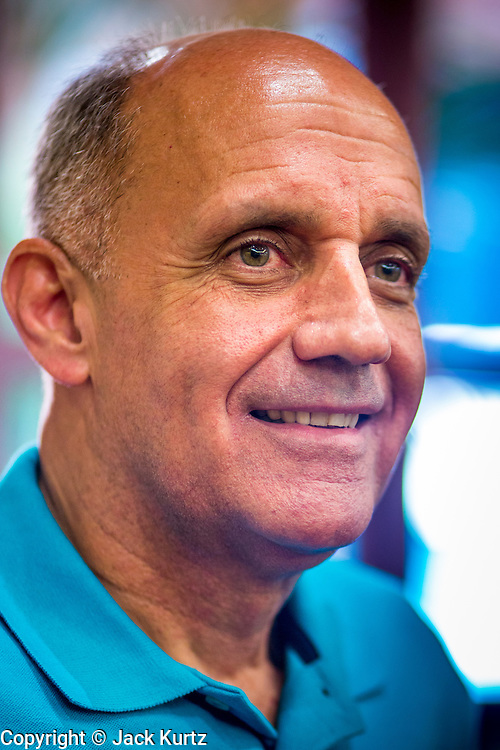 08 SEPTEMBER 2012 - SURPRISE, AZ: Dr. RICHARD CARMONA waits to speak at a campaign town hall in Surprise, AZ. Carmona, a Democrat, is from Tucson, AZ. He is a former US Surgeon General, former Green Beret, and former SWAT Police officer, is running for the US Senate being vacated by Republican Sen. Jon Kyl. His opponent in the November election is Rep. Jeff Flake, a long serving Congressman from Mesa, a suburb of Phoenix.    PHOTO BY JACK KURTZ