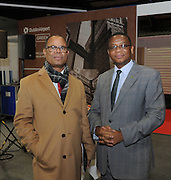 Pictured at the Holiday World Show Ambassador Reception was from left to right: Steve Vemunavi Katjiuanjo High Commissioner Namibia and Paramente Phamotse Ambassador of Lesotho.<br /> Photograph: Aidan Crawley