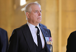 The Duke of York ahead of the funeral of the Duke of Edinburgh at Windsor Castle, Berkshire. Picture date: Saturday April 17, 2021.