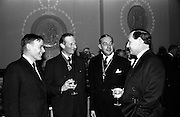17/11/1964<br /> 11/17/1964<br /> 17 November 1964<br /> <br /> Dr Trevethick Pres. English Association and Dr Moore Pres. Assocation of Irish Medical Officers speaking with guests at the Dinner