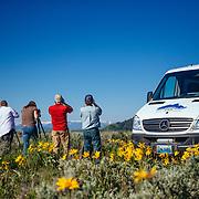 Searching for wildlife in Grand Teton National Park on a Teton Science Schools wildlife tour.(Maura Bushior, Katie-Cloe Stock, Paul Maddex, Matthew Bart)