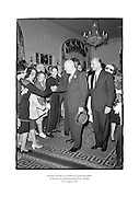 General Dwight D. Eisenhower greeting the public at the Gresham Hotel, Dublin.<br /> <br /> 21st August 1962<br /> 21/08/1962