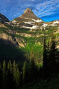 Sunrise on Reynolds Mountain, Glacier National Park
