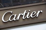 Sign for high end fashion and exclusive brand Cartier.