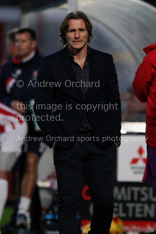 Wycombe manager Gareth Ainsworth looks on.. Skybet football league two match, Cheltenham Town  v Wycombe Wanderers at The Abbey Business Stadium, Whaddon Road in Cheltenham, Glos on Saturday 22nd November 2014.<br /> pic by Mark Hawkins, Andrew Orchard sports photography.