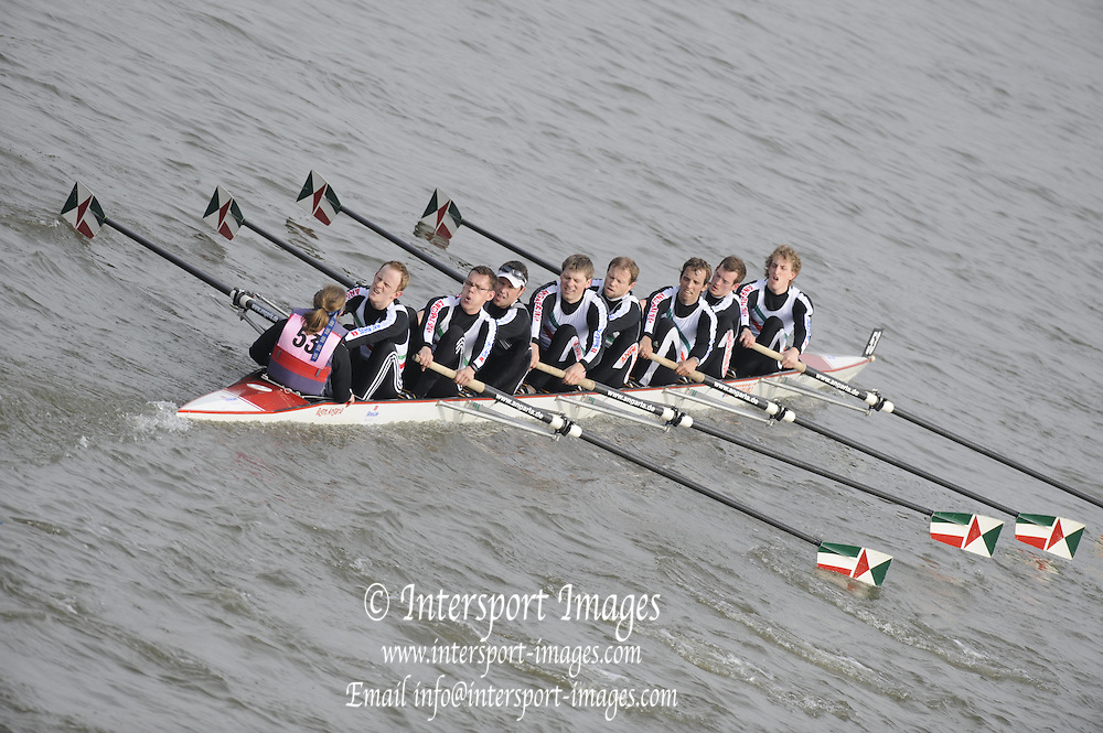 Putney/Barnes,  Great Britain,   Angaria RH Hannover, [GER],  2008 Head of the River Race. Raced from Mortlake to Putney, over the Championship Course.  15/03/2008  [Mandatory Credit. Peter Spurrier/Intersport Images] Rowing Course: River Thames, Championship course, Putney to Mortlake 4.25 Miles,