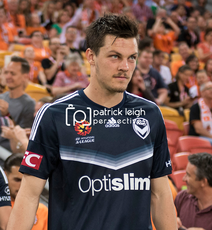 BRISBANE, AUSTRALIA - OCTOBER 7: James Donachie of the Victory walks out during the round 1 Hyundai A-League match between the Brisbane Roar and Melbourne Victory at Suncorp Stadium on October 7, 2016 in Brisbane, Australia. (Photo by Patrick Kearney/Brisbane Roar)