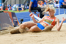Anouk Vetter sprong in haar laatste poging 6,30m ver, slechts 4 cm onder haar persoonlijk record, bij het EK atletiek in Berlijn op 10-8-2018
