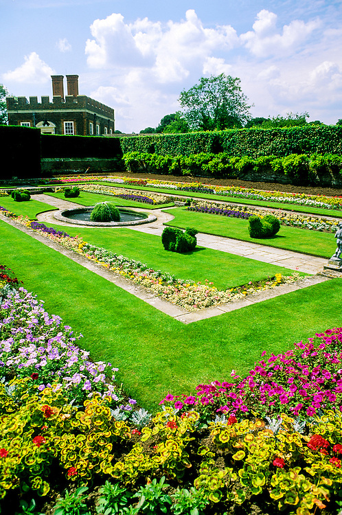 The Pond Gardens, Hampton Court Palace, outside London, England