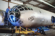 The Enola Gay being refurbished for exhibition at the Smithsonian Air and Space Museum.<br />Photo by Dennis Brack