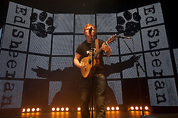 © Licensed to London News Pictures. 22/10/2012. Plymouth, UK. Ed Sheeran performs live at Plymouth Pavilions. Photo credit : Ashley Hugo/LNP