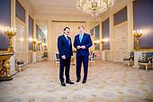 Koning Willem-Alexander ontvangt de president van Hongarije