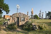 Sod hut in Shattuck, Oklahoma Windmill park is typical of early 1900 Oklahoma farm home