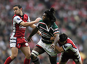 Twickenham, Great Britain. Left Ryan LAMB and centre Seru RABENI, during the Premiership Final; Leicester Tigers vs Gloucester Rugby at the RFU Stadium, Surrey England, on Sat. 12.05.2007. [Credit: Peter Spurrier/Intersport Images]