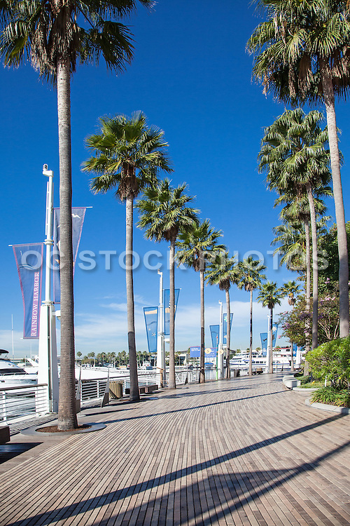 The Boardwalk At Rainbow Harbor In Long Beach