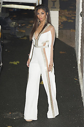 Nicole Scherzinger im weissen Overall vor den  Fountain Studios in London / 061116<br /> <br /> ***Nicole Scherzinger X Factor Judges at Fountain Studios, London 6th Nov 2016***