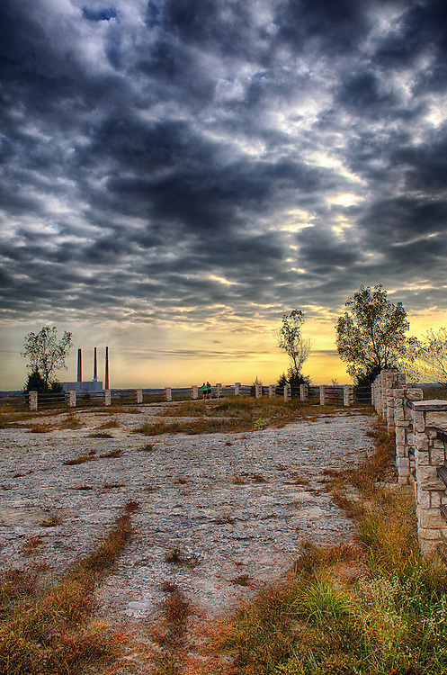A Leading View of the Scenic Overlook at Klondike Park, One of the central focal points and viewing areas found in the Park. The vista views from this vantage point are nothing less than spectacular, especially during the Autumn months.