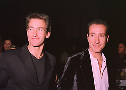 Left to right, MR TIM JEFFERIES the former husband of Koo Stark <br /> and the HON.ROBERT HANSON son of Lord Hanson, at a party in <br /> London on 26th February 1998.MFU 57