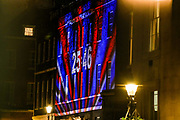 January 31, 2020, London, England, United Kingdom: A countdown to Brexit timer and the colors of the British Union flag illuminate the exterior of 10 Downing street, the residence of the British Prime Minister, in London, England, Friday, Jan. 31, 2020. (Credit Image: © Vedat Xhymshiti/ZUMA Wire)