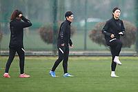 South Korea Women's Football Training, 2020 Tokyo Olympic Women's football tournament playoff, Suzhou, Jiangsu Province, China, 12 Apr 2021.