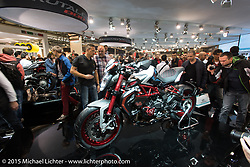 EICMA, the largest international motorcycle exhibition in the world. Milan, Italy. November 17, 2015.  Photography ©2015 Michael Lichter.
