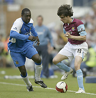 Photo: Aidan Ellis.<br /> Wigan Athletic v West Ham United. The Barclays Premiership. 28/04/2007.<br /> West Ham's Youssi Benayoun looks to beat Wigan's Emile Heskey