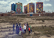 Reunión de los héroes del brillo en la ciudad de El Alto