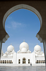 Sheikh Zayed Bin Sultan Al Nahyan Mosque in Abu Dhabi, United Arab Emirates, UAE