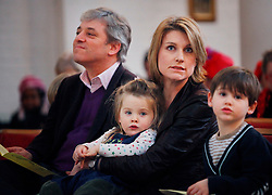 © under license to London News Pictures. 06/02/11 John Bercow with his wife Sally Bercow and children watch the annual clown service in memory of Grimaldi at the Holy Trinity Church in Dalston, London in 06/02/11. Photo credit should read: Olivia Harris/ London News Pictures