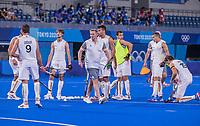 TOKIO - België voor  de hockey finale mannen, Australie-Belgie (1-1), België wint shoot outs en is Olympisch Kampioen,  in het Oi HockeyStadion,   tijdens de Olympische Spelen van Tokio 2020. COPYRIGHT KOEN SUYK
