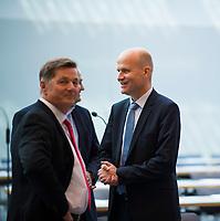 DEU, Deutschland, Germany, Berlin, 25.09.2018: Ralph Brinkhaus (R) wurde in der heutigen Fraktionssitzung der CDU/CSU zum neuen Fraktionsvorsitzenden von CDU/CSU gewählt.